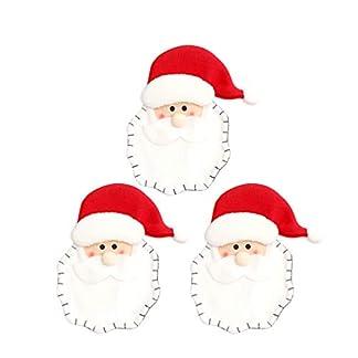 Amosfun Navidad Cubiertos Cubiertos Bolsillos Santa Claus Tenedor Cuchara Cuchillo Bolsas Navidad vajilla Cubiertos Bolsas para Vacaciones Mesa decoración Suministros 3 Piezas