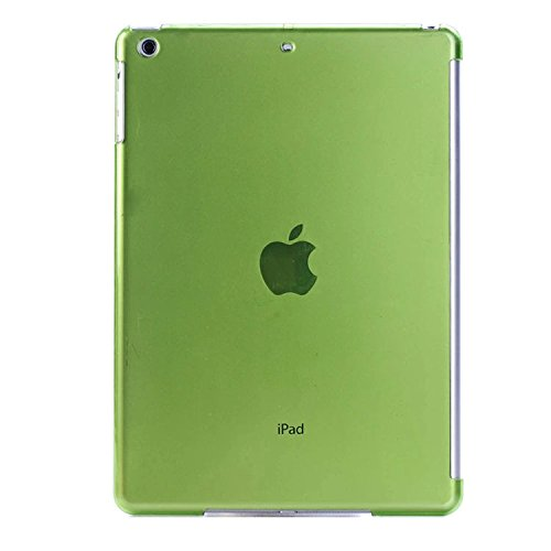 Robustrion Crystal Finish Hard Back Protective Case Cover for New iPad 9.7 inch 2018/2017 6th/5th Generation - Green