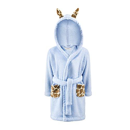 Super Weiche Mädchen-bademantel (MayLily® Premium | Super Weiche Kuscheliger Niedliche Bademantel für Baby Jungen und Mädchen | 3 bis 4 Jahre | Frotte | Made in EU | in vielen Variationen (Giraffe in der Wolke))