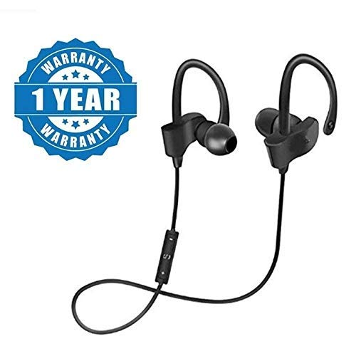MARVIK Wireless Bluetooth Headphones with Mic and Volume Button for Mi Note 5 Pro, TS Mi Note 5 Pro, Redmi 6 Pro, Redmi 6A, Redmi Y2, Mi A2, Redmi 5, Redmi 4, Mi A1, Y2, Y3 Mi Note 7 Pro (Black)