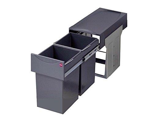 Hailo 3666101 Abfallsammler TA Swing 30.2/30 für Schränke ab 300 mm Breite mit Drehtür - Kunststoff-abdeckung Schrank Mit