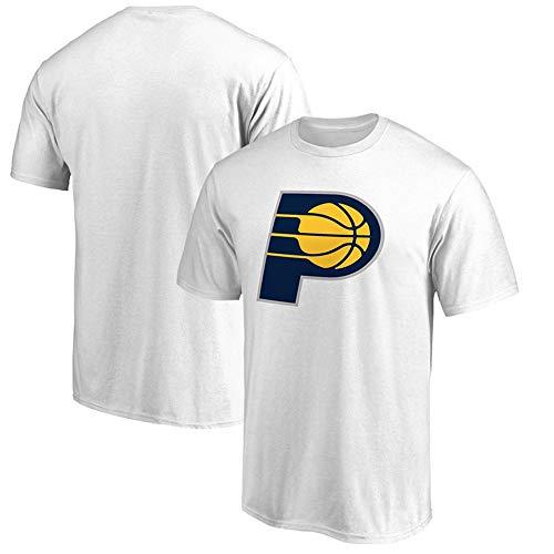 T-Shirt NBA Indiana Pacers Basketball Fans Männer Jugend bequemes Hemd Weiß, XL - Die Jugend Weiß Basketball T-shirt