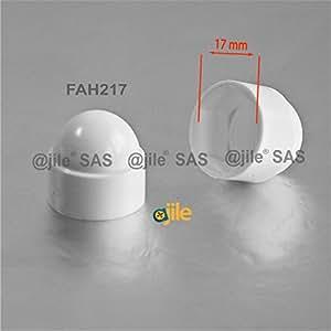 ajile - 20 pièces - Cache vis écrou de protection M10 clef de 17 mm - plastique BLANC - FAH217-A