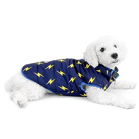 Smalllee _ Lucky _ Ranger Lightning Impression rembourré par temps froid Gilet pour chiens de petite taille pour animaux Gilet Veste chaud Chien Apparel par temps froid manteaux Chihuahua Vêtements