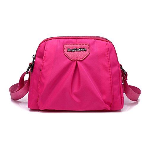 Ladies singola borsa a tracolla,borsa di tela,messenger bag-porpora Rose
