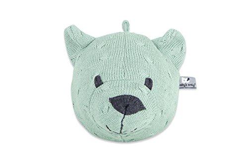 Sólo, Marioneta del bebé hizo punto la forma de oso de peluche, verde (Menta)