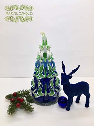 Geschnitzte Kerze, Geburtstagskerzen, geschenk, dekorative kerzen, gift, weihnachtskerze, blau, grun, Stilvolle Akzente, Ohne Deko - Traditionelle Akzente