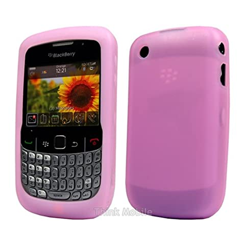 Purple Soft Silicone Case Cover For Blackberry Curve 8520 /