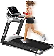 PowerMax Fitness Unisex Adult TAC-2000 Commercial (6.0hp) Ac Motorized Treadmill with Free Installation - Silv
