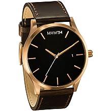 MVMT Herren Watch Uhr Rose Gold/ Brown Leder Armband MM01RGL