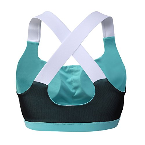 meinice Adorabile Cross Back Active Yoga Reggiseno Green Medium
