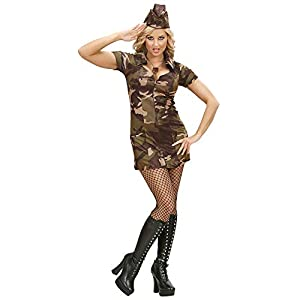 Widman S/70472- Disfraz de militar para mujer,  M