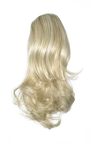 Love Hair Extensions - LHE/N/PERCILLA/CC/22/60/613 - Prime de Fibres Percilla - Pince Crocodile - Queue de Cheval - Couleur 22/60/613 - Blond Plage / Blond Pur / Blond Crème