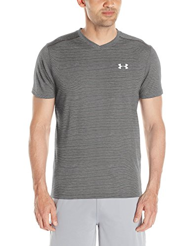 under-armour-threadborne-streaker-v-neck-maglia-con-manica-corta-grigio-carbon-heather-l