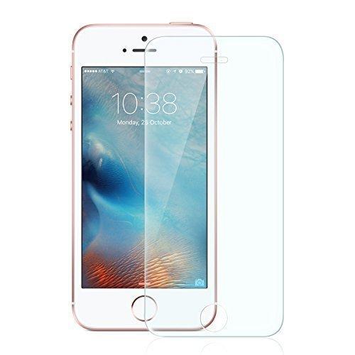 Anker Glas Schutzfolie für Apple iPhone SE/iPhone 5S/iPhone 5C/iPhone 5 Guerdon Klar Anti-Kratz-Screen Protector Displayschutz - 9H Hardness aus gehärtetem Glas
