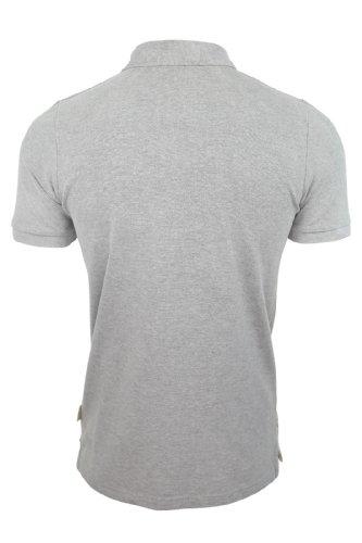 Tokyo Laundry Herren Polo T-Shirt 'Sarasota' Kurzärmelig Pique Brust Applique (Sarasota) Grey Marl