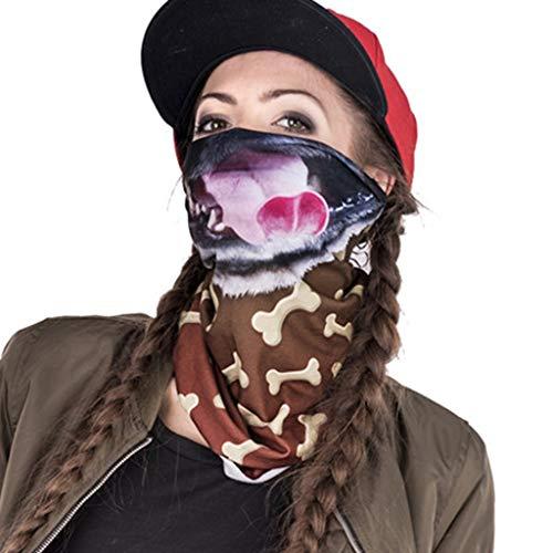 COZOCO 2019 Einfaches und nützliches Stirnband Radfahren Motorrad Kopftuch Nackenwärmer Gesichtsmaske Ski Sturmhaube Stirnband E Freie Größe (Piraten Kostüm Mädchen Diy)