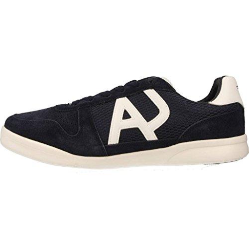 Armani Jeans scarpe sneakers uomo camoscio nuove blu Blu Venta Elección BMkobTS