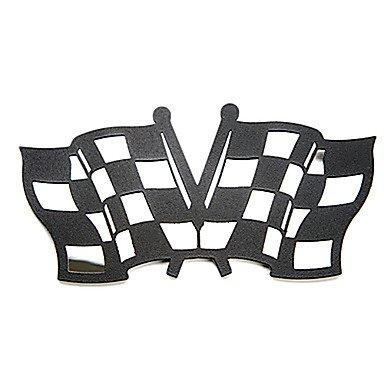 KLDZIDNI Acier inoxydable emblème drapeau Racing autocollant de voiture Pour