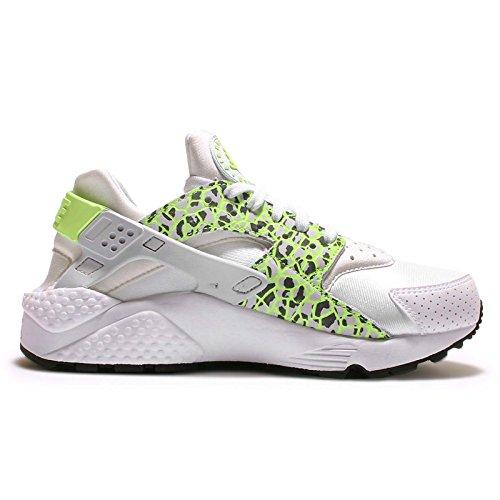 Nike - Wmns Air Huarache Run Prm, Scarpe sportive Donna White/Ghost Green-Pure Platnium