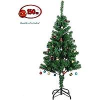 Uten Sapin de Noël Artificiel, Arbre de Noël, Matière PVC, Socle en Métal et Support en Métal Détachable (150cm)