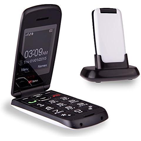 TTfone Star TT300 - Teléfono móvil tipo concha (básico con botones grandes) color blanco