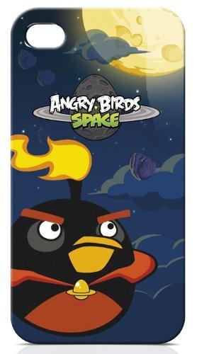 Gear4 ICAS405G Angry Birds Space Black Bird Schutzhülle für Apple iPhone 4/4S schwarz