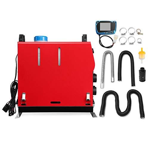 Diesel Air Heater, 12v/5kw Diesel Riscaldatore, 12V Diesel Aria Riscaldatore, Riscaldatore Diesel kit con Telecomando LCD per Auto Camion Yachts Barche Camper rosso