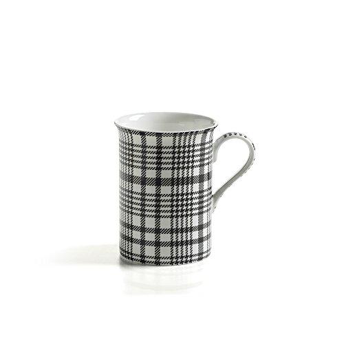 Maxwell & Williams S81005 Art Deco Becher, Kaffeebecher, Tasse, Glencheck, in Geschenkbox, Porzellan - Art Deco Porzellan
