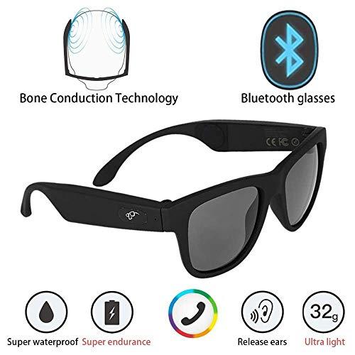 NAMENLOS Polarisierte Sonnenbrille Knochenleitungs-Headset-Sonnenbrille Bluetooth SmartTouch Stereo-Kopfhörer Drahtlose Kopfhörer mit Mikrofon