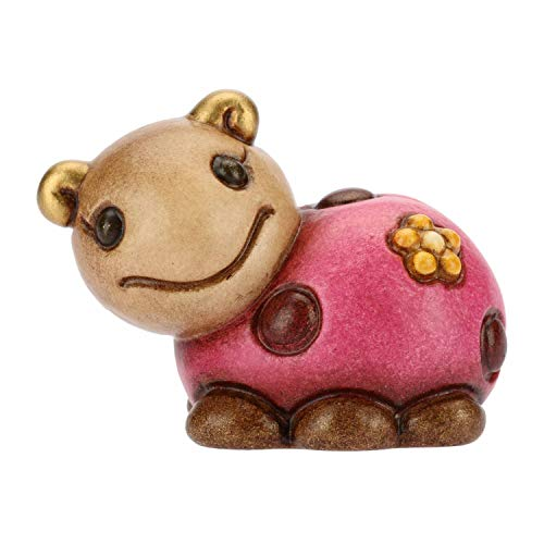 Thun® - mini coccinella rosa collezionabile dolcezza - animali soprammobile da collezione - ceramica - i classici