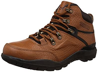 Redchief Men's Elephant Tan Leather Trekking and Hiking Footwear Boots - 10 UK/India (44.5 EU) (RC5070)