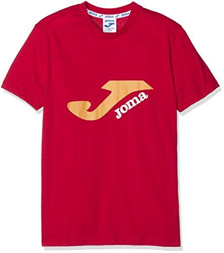 Joma Logo - Camiseta para niños de 10-12 años, color rojo