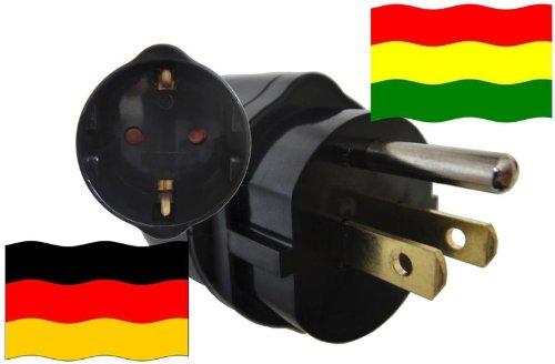 Adapter Bolivien Kindersicherung und Schutzkontakt für Geräte aus Deutschland 250V