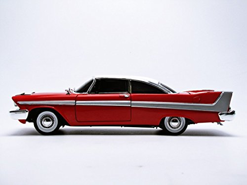 AWSS102 PLYMOUTH FURY 1958 CHRISTINE LA MACCHINA INFERNALE TINTED WINDOWS 1:18