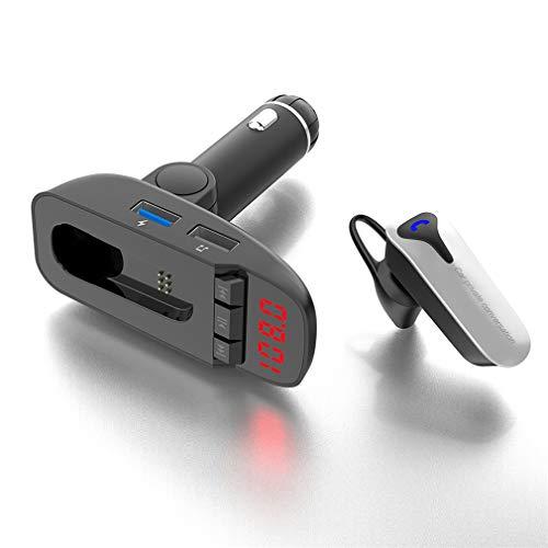 Bluetooth FM Transmitter/Car Wireless Charger/Bluetooth Musik/Dual USB Charging/Freisprechen/Radio/Eine Maschine/Unabhängiger Schalter/Mit der Ladung -