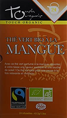 Touch Organic Thé Vert à la Mangue 24 Sachets 43 g