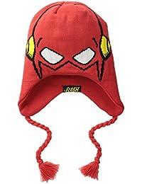 DC Comics The Flash Face Intarsia Laplander Beanie Hat