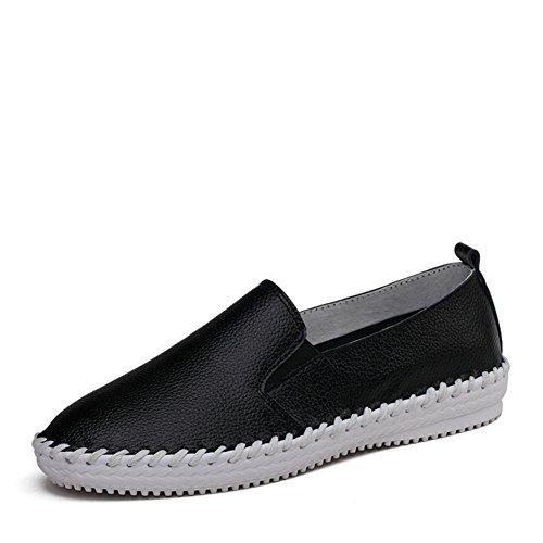 Version coréenne au printemps peu blanc chaussures femme/Chaussures plates/Chaussures sport en cuir/Chaussures blanc/Chaussures femme B