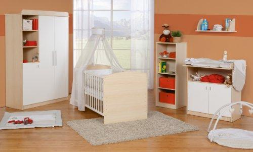 Ahorn-set Schrank (Roba 55401 Kinderzimmer-Set Lena, ahorn/weiß)