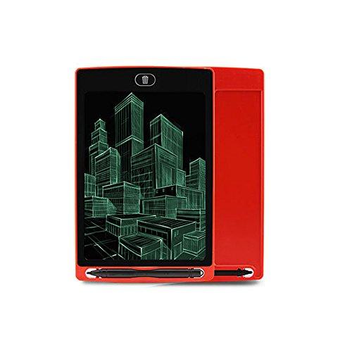 Donjon LCD Writing Tablet,8,5-Zoll Tragbar Graphic Zeichnen & Schreiben Board, Notizblock mit Eingabestift für Kinder und Erwachsene zu Hause, Schule und Arbeit Büro. ... (WT-red)