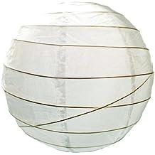 Lighting Web - Pantalla de papel para lámpara (48,3 cm) diseño irregular, color blanco