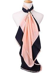 Prettystern - 90cm Seidentuch 2-farbig aus 100% Seide (schwere 14mm Crepe Satin Seide) - Farbauswahl