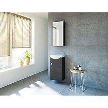 planetmoebel badmobel set gaste wc waschtischunterschrank keramikwaschbecken spiegelschrank anthrazit