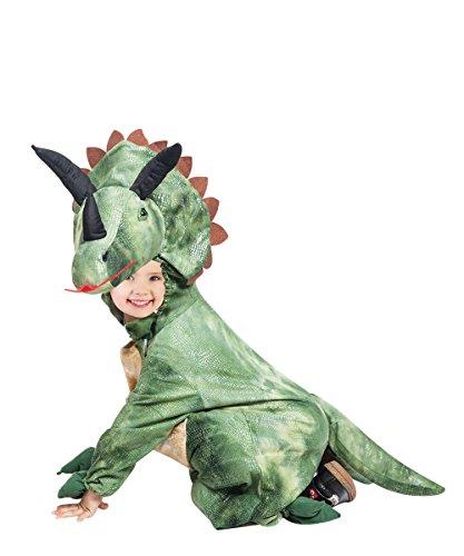 Ikumaal Dino-Kostüm Triceratops, F123 Gr. 104-110, für Kinder, Dinosaurier-Kostüm, Dino-Kostüme für Fasching Karneval, Kleinkinder-Dinosaurier-Kostüme, Kinder-Faschingskostüme, Geburtstags-Geschenk (Kleinkind T-rex Kostüm)