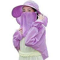 CFHJN Home Sombrero de Mujer Sombrero de protección Solar Máscara de Verano para  Mujer Sombrero de d7282510a997