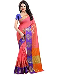 RAMAPIR FASHION Women'S Ethnic Wear Poly Cotton Silk Saree & JACQUARD WORK With Unstitched Blouse Piece (Sarees...