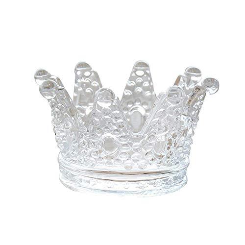 YOURNELO Creative Cute Crystal Transparent Glas Krone Zigarette Aschenbecher Kerzenhalter für Home Auto Frau Antik A 1 (Crystal Zigarette Aschenbecher)