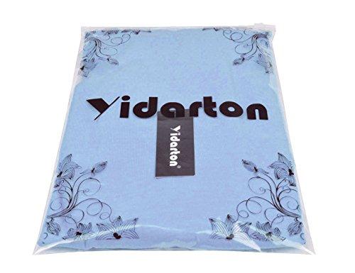Yidarton Damen Bandeau Kleid Hellblau
