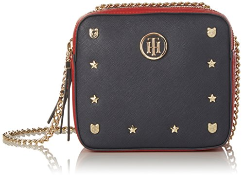Tommy Hilfiger Borsetta Camera Bag Novelty Solid Studs AW0AW04665 903 Blu (Navy/red)
